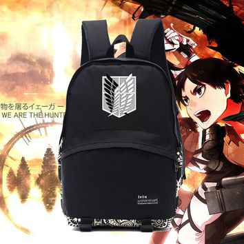 Cool Attack on Titan New  backpack  emblem logo Survey Legion backpacks dom wings bags for anime fans school NB010 AT_90_11