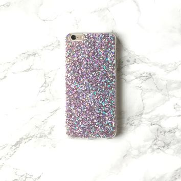 Glitter Holograph Sparkle ULTRAVIOLIT iPhone X 8 7 6s 6 Plus Phone Case Holo Reflective Iridescent Mermaid Hologram Bling Sparkly Cover Gift