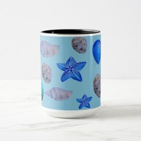 sea shell's black 15 oz combo mug