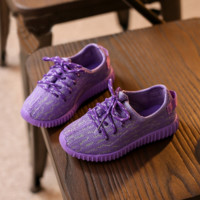 Purple Boys Girls Kids Sports Outdoor Shoes