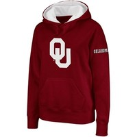 Oklahoma Sooners Ladies Big Logo Pullover Hoodie Sweatshirt - Crimson