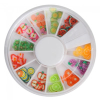 12 Colors 3D Fimo Slice Fruit Nail Art Decoration - Default