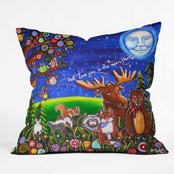 Renie Britenbucher Love You To The Moon And Back Throw Pillow