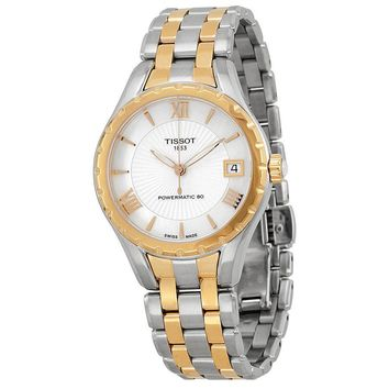 Tissot T-Lady Powermatic 80 Mother of Pearl Dial Two-tone Ladies Watch