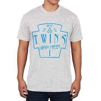 Twins Best Friends Forever Distressed First Mens Soft T Shirt