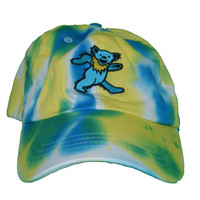 Vintage Culture Grateful Dead Blue Bear Patched Dad Hat In Tie Dye