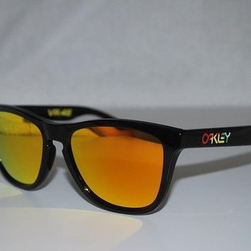 Oakley Frogskins Valentino Rossi Sunglasses 24-325 Polished Black/Fire Iridium