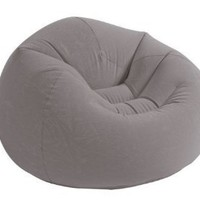 "Intex Beanless Bag Inflatable Chair, 42"" X 41"" X 27"", Gray"