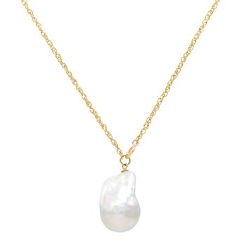 Baroque Pearl Necklace 14K