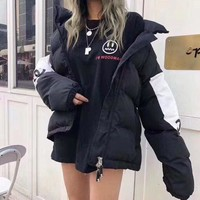 Top Gift New 2020 Hermes women winter down coat fashion waist-controlled Hooded Fur Collar Warm Women winter Jacket Casual Parkas womens coat Jacket Coat