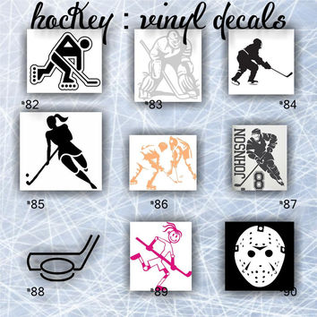 HOCKEY - pgs #10 - personalizable vinyl decals / car stickers