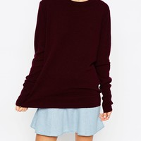 ASOS WHITE Crew Neck Jumper in Cashmere