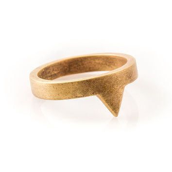 Triangle Knuckle Ring - By natalia+benson