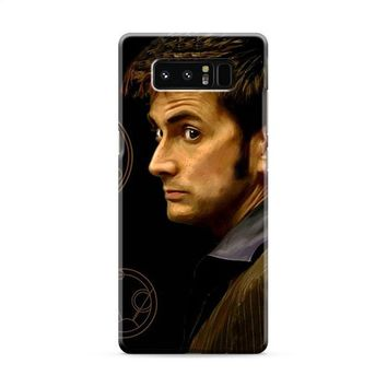 Tenth Doctor With Gallifreyan Samsung Galaxy Note 8 Case