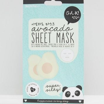 Oh K Avocado Super Silky Sheet Mask at asos.com