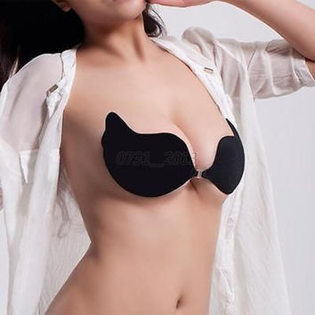 Sexy Womens Self Adhesive Silicone Strapless Stick On Bra CUP A/B/C