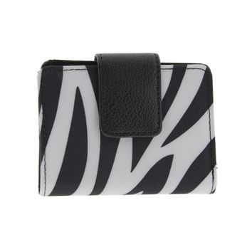 Kenneth Cole Reaction Womens Zebra Print Photo Bifold Wallet