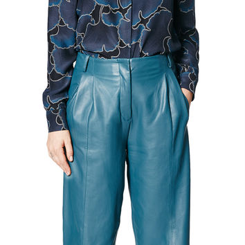 Bess Leather Trouser Teal