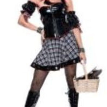 Women's Costume: Wicked Wizard of Oz Mistress Dorothy | Large