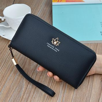 New Women's Wallet Luxury Brand Female Long Purses 2018 Fashion Zipper Large Capacity Wallets Ladie's Clutch Bag Carteras Mujer
