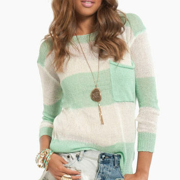 Like a Feather Striped Sweater $40