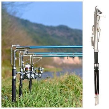 ONETOW Telescopic Automatic Fishing Rod Sea 2.1/2.4/2.7m Shore River Lake Fishing Pole Device Stainless Steel Ends Field Cutting Pesca