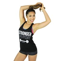 Stronger Every Day Edgy Tank