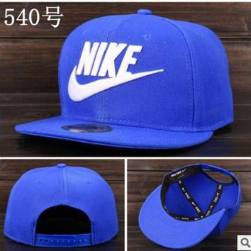 Nike Tech Swoosh Cap, Black/White, Size can be adjusted Blue