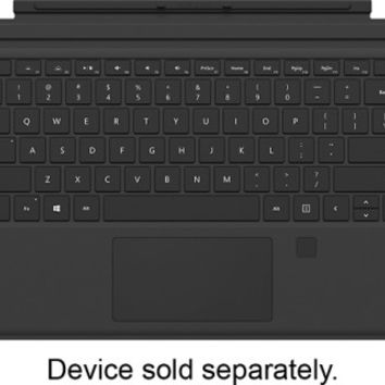 Microsoft - Surface Pro Type Cover with Fingerprint ID - Black