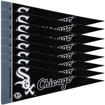 Chicago White Sox MLB 4x9 Mini PENNANT Banner Flag Set (8) FREE US SHIPPING