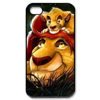 Diy Case The Lion King Iphone 4/4S Case Hard Case Fits Sprint, T-mobile, AT&T and Verizon IPhone 4s Case 101482