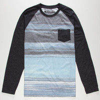 Hurley Aaron Mens Pocket Tee Charcoal  In Sizes