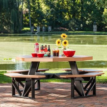 Shop Antique Mahogany Table On Wanelo - Recycled plastic octagon picnic table