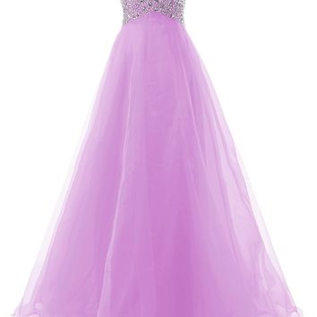 7a9806af7765 Dressystar Sweetheart Beaded A-line Prom Dress Ball Gown Bridal Dress  Lace-up Back