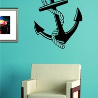 Anchor with Rope Decal Sticker Wall Vinyl Art Decor Ocean Boat