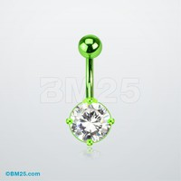 Neon Anodized Gem Belly Ring