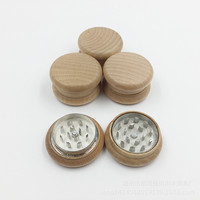 New 1Pcs 50 Mm Mini Wooden Smoking Herb Crusher Grinders Hookah Pipe Hand Muller