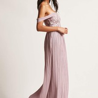 Soieblu Crochet Off-the-Shoulder Gown