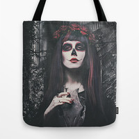 Catrina Day of the Dead Tote Bag by Galen Valle