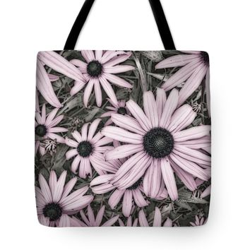 "Flowers In Pink - photography Tote Bag for Sale by Ann Powell (18"" x 18"")"