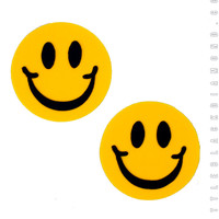 Smiley Pasties in Yellow