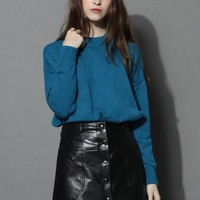 Oh Cozy Sweater in Sapphire Blue