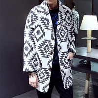 Oversize Men's Fashion Winter Wool Coat