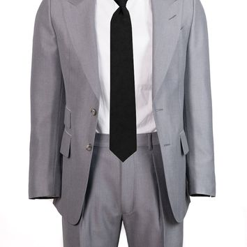 Tom Ford Men's Gray Irregular Canvas Shelton Two Piece Suit
