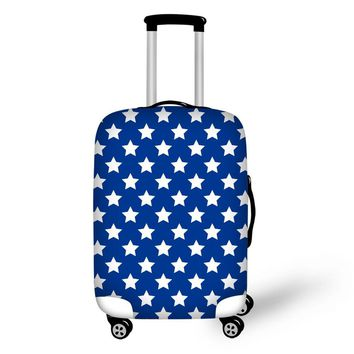 Geometric Elastic Polyester Travel Luggage Cover Floral Waterproof Stretch Suitcase Protective Cover for 18-30 Inch