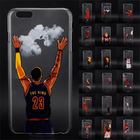 new NBA star basketball player phone case for iphone 5 5s 6 plus Jordan 23 james harden curry hard PC back cover coque fundas