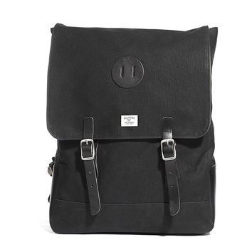 No. 372 Rucksack, Black Waxed