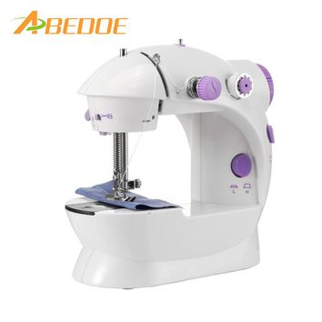 Electric Household Sewing Machine 2-Speed Portable Tailor Small Mini Multifunction Automatic Tread
