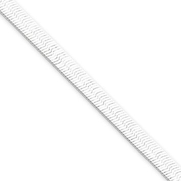 4.5mm, Sterling Silver Solid Herringbone Chain Necklace, 18 Inch