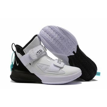 "Nike LeBron Soldier 13 ""White Black"" Men Sneaker - Best Deal Online"